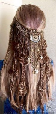 festival look hair charm braids